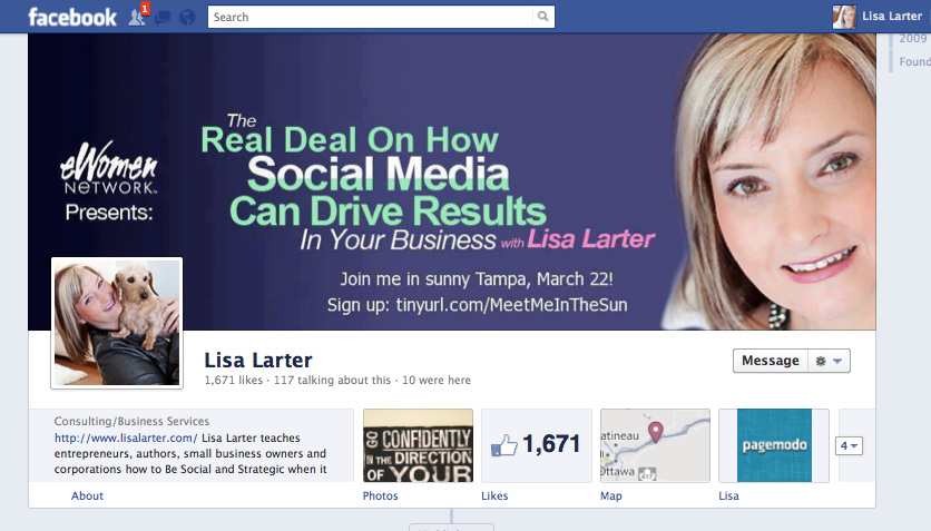 Lisa Larter Timeline for Facebook Pages