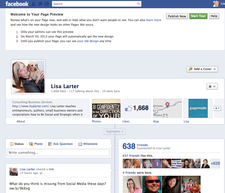 Lisa Larter - Timeline for Facebook Pages