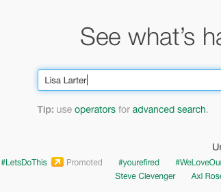 Lisa Larter Search on Twitter
