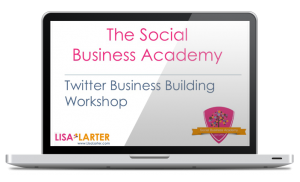 Lisa Larter Twitter Workshop