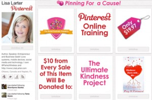 Lisa Larter Pinterest for a Cause