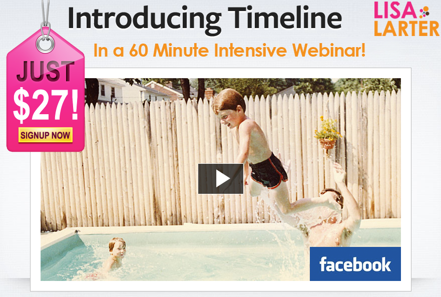 Lisa Larter Facebook Timeline Training
